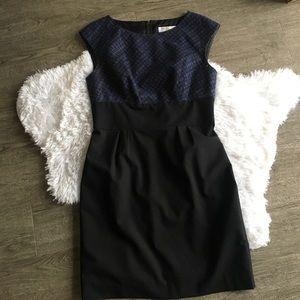 trina turk wool blend sheath dress